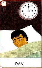 Past Simple - Dan sleeping